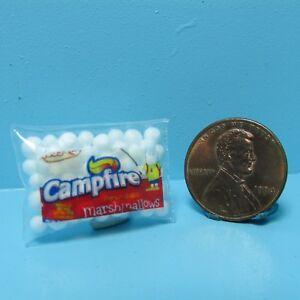 Dollhouse Miniature Detailed Replica Campfire Marshmallows Bag G166