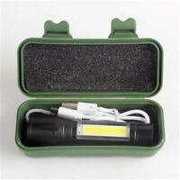 Rechargeable COB LED Light Flashlight Magnetic Tail Worklight Torch Hiking Lamp