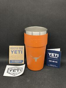 NCAA Texas Longhorns Yeti Rambler 16 oz Burnt Orange Stackable Pint