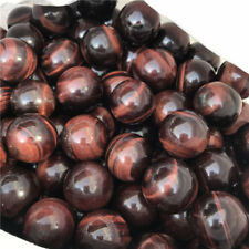 5pcs Red Tiger's Eye Sphere Natural Chatoyant Mineral Stone Ball -Africa