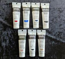 Liquitex Professional Heavy Body Acrylic artists paint 7 x 59ml tubes.