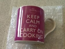 KENT POTTERY KEEP CALM AND CARRY ON COOKING Fine China Cylinder Mug