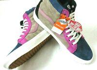 Vans Mens Sk8-Hi MTE Skate shoes Gibraltar Sea Portabella Blue Pink Size 11.5