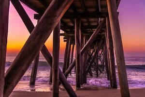 Sunrise at the Ocean Belmar Fishing Pier, NJ Shore (Prints)