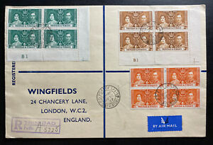 1937 Trinidad & Tobago First Day Oversized cover Coronation king George VI KGVI