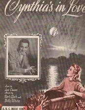CYNTHIA'S IN LOVE..PERRY COMO..SHEET MUSIC.,1942