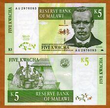 Malawi / Africa, 5 Kwacha, 1997, P-36 (36a), Unc