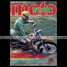 MOTO VERTE N°15 ROCVALE 50 JUPITER FANTIC CABALLERO OSSA 250 PIONEER COUTARD '75