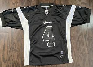 Minnesota Vikings #4 Brett Favre NFL Football Jersey Mens Sz Large Black Reebok