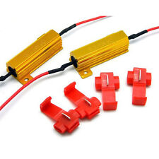 2 X Kfz Auto Lastwiderstand 50W 6 Ohm Fix LED Birne Hyper Blitz Blinker