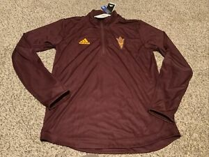 adidas Aeroready Arizona State Sun Devils 1/4 Zip Pullover Shirt Men's Size: XL