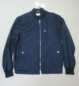 Brunello Cucinelli, NEW WITH TAGS,($$2195) men's navy wool/silk jacket. size 56