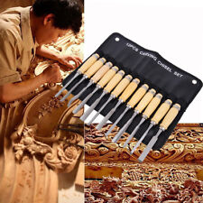 12pcs Diy Professional Wood Carving Hand Chisels Woodworkers Gouges Lathe Tool