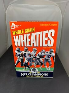 """Dallas Cowboys 1992 Wheaties Empty Cereal Box NFL Champions, """"One Owner"""""""