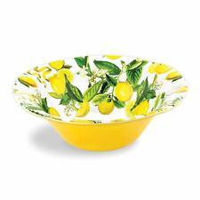 Michel Design Large Melamine Lemon Basil Salad Bowl ~ NEW