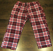 MENS 2XL XXL NEW WITH TAGS SLEEPING PANTS HOME PAJAMAS CHECKERED PLAID RED BLUE