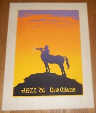 1981 New Orleans Jazz Poster Fine Serigraph / Silkscreen Signed & Numbered