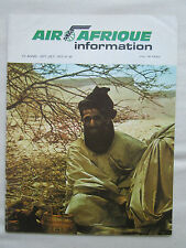 AIR AFRIQUE INFORMATION N°69 9-10/1975 AIRLINE AFRICA CHARTER LA MECQUE TRAFIC