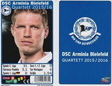 DSC Arminia Bielefeld Quartett Kartenspiel 2015/2016 Neu OVP Karten Fußball
