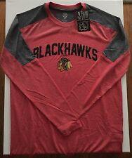 NEW NHL Hockey Men's Chicago Blackhawks Long Sleeve Novelty Shirt Red Gray XXL