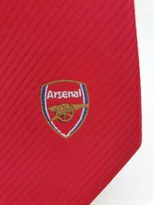 Arsenal Tie new mens Red self patterned logo Arsenal FC Tie