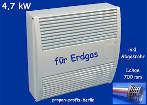 Außenwandheizer 4,7 kW für Erdgas / Gasheizung Gasheizautomat Haller Meurer HM