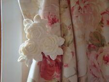 Shabby & ChicTriple Rose Curtain Drapery Tie-Backs PAIR (Style #1)