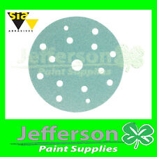 SIA Sanding Discs 320grit 15 hole x100 NEW 1948 LINE sandpaper paper SIAFLEX