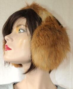 Fur Earmuffs Fur Red Fox fuchs Natural Earmuffs Earwarmer Redfox
