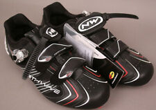 NorthWave Evolution SBS Black Road Clip In Shoes New Size 12 US 45 EU Closeout