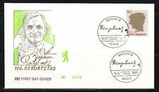 Germany Berlin 1983 FDC cover Sc 9N486 Mi 701 Joachim Ringelnatz,painter& writer