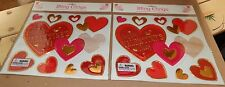 Valentines Bling Clings Wall Art For Windows & Mirrors Hearts 2pks 18 Total 102L
