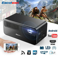 7000 Lumens 1080P FHD Wireless Smart DLP Projector BT Android Home Theater HDMI