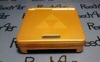 Gold Zelda Gameboy Advance SP AGS-101 Brighter screen Triforce Nintendo system