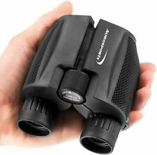 Aurosports 10x25 Compact Binoculars with Low Light Night Vision - Carrying Pouch