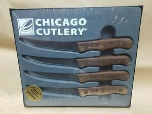 RARE Chicago Cutlery Set of 4 103 Steak Knives-Never Used NOS in Box USA Knife