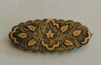 Antique Victorian  aesthetic movement silver brooch