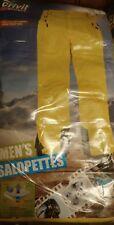Crivit Sports Men's Snowboard Ski  WIND-WATERPROOF Salopettes Bright Yellow 34Uk