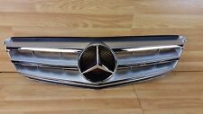MERCEDES C Class W204 07-14 silver chrome sport AMG frot grill grille bumper