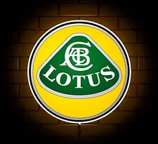 LOTUS BADGE SIGN LED LIGHT BOX MAN CAVE GARAGE WORKSHOP GAMES ROOM BOYS GIFT