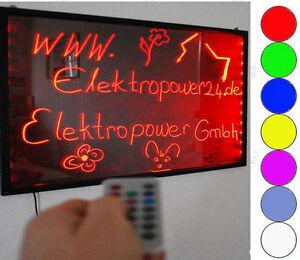 LED Schreibtafel Licht-Tafel/Werbetafel/Beleuchtung/Writing Board 50x30 werbung