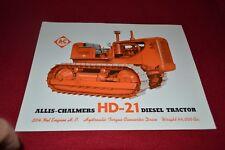 Allis Chalmers HD-21 Crawler Tractor Dealer's Brochure YABE14