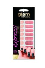 Brand New Glam Manicare Express Nail Wraps 40 pieces Nail Sticker