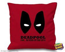 "Deadpool - Pillow Cushion Cover - ""Shhh I'm hiding in your sofa!"""