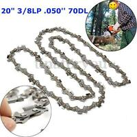 20'' 65 Manganese Silver Chainsaw Saw Chain Blade 3/8'' Pitch .050 Gauge 70DL
