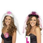 Bride To Be Crown Tiara Veil Bachelorette Girls Night Hen Party Do Dress JXD6