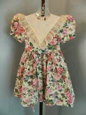 Vtg girls Ruth of Carolina floral bib dress size 5