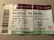 Burnley V Tottenham Spurs Ticket 2017 Premier League