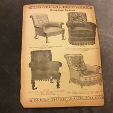 Antique Catalogue Page - Dining Room Furniture
