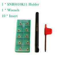 SNR0010K11 Internal Lathe Threading Turning Boring Bar Holder + Inserts